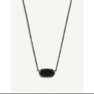 Kendra Scott Jewelry - Kendra Scott Elisa Gunmetal/Black Druzy Stone